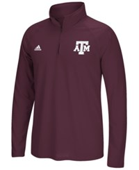 Adidas Men's Texas A And M Aggies Primary Screen Ultimate Quarter Zip Pullover Maroon