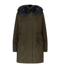 Max Mara Maxmara Weekend Fur Trim Parka Female Green