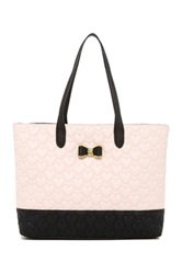 Betsey Johnson Be My Bow Quilted Tote Pink
