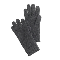J.Crew Touchtec Ragg Wool Gloves Hthr Carbon