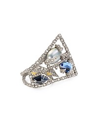 Alexis Bittar Bitter Encrusted Mosaic Lace Ring Silver