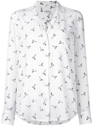 Equipment Cocktail Print Blouse White