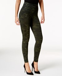 Spanx Look At Me Now Camo Leggings Green Camo