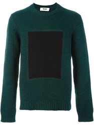 Msgm Crew Neck Sweater Green
