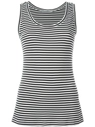 Max Mara Striped Tank Top Blue