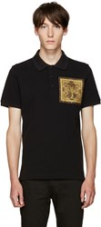 Givenchy Black Cobra Patch Polo
