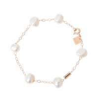 Ginette_Ny Pearls And Tube On Chain Bracelet