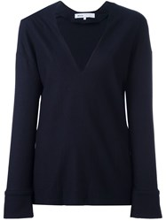 08Sircus Deep V Neck Pullover Blue