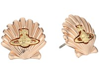 Vivienne Westwood Shell Earrings Pink Gold Gold