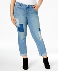 Styleandco. Style Co. Plus Size Patchwork Curvy Boyfriend Jeans Only At Macy's Disco