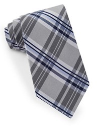 Lord And Taylor James Plaid Tie Gray