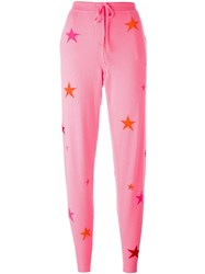 Chinti And Parker Star Track Pants Pink Purple