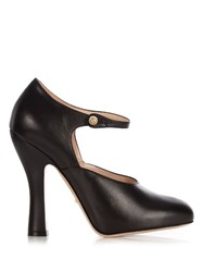 Gucci Lesley Leather Pumps Black