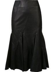 Derek Lam 10 Crosby Flared Skirt Black