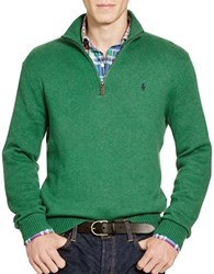 Polo Ralph Lauren Cotton Half Zip Sweater Baron Green