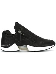 Cinzia Araia Transparent Detail Zipped Sneakers Black