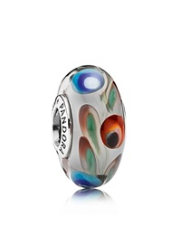 Pandora Design Pandora Charm Sterling Silver And Murano Glass Folklore Moments Collection Silver Multi