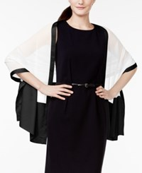 Styleandco. Style And Co. Basic Chiffon Satin Border Colorblock Evening Wrap Only At Macy's