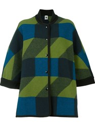 M Missoni Geometric Pattern Coat Green
