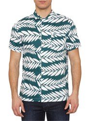 Penguin Med Short Sleeve Shirt Green White