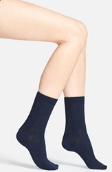 Women's Smartwool 'Cable Ii' Crew Socks Deep Navy Heather