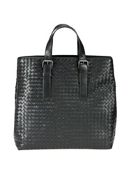 Bottega Veneta North South Bucket Tote Black Brown