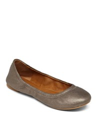 Lucky Brand Emmie Leather Ballet Flats Pewter