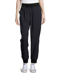 Marc New York Patterned Jogger Pants Black Herringbone