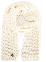 Moncler Chunky Knit Scarf White