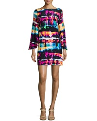 Alice And Trixie Marissa Printed Flutter Sleeve Dress