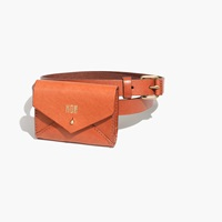 Madewell Leather Pouch Belt English Saddle
