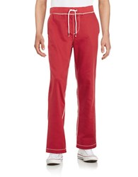 True Religion Drawstring Sweatpants Red
