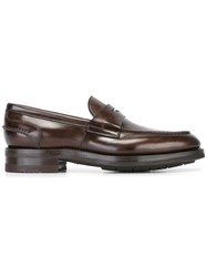 Santoni Classic Loafers Brown