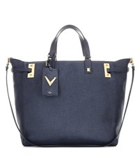 Valentino My Rockstud Printed Leather Tote Blue