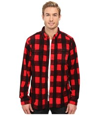 Columbia Forest Park Printed Overshirt Mountain Red Buffalo Plaid Men's Long Sleeve Button Up