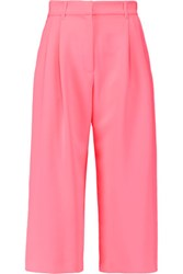 Mcq By Alexander Mcqueen Cropped Crepe Wide Leg Pants Pink