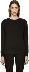 Frame Denim Black Le Varsity Sweatshirt