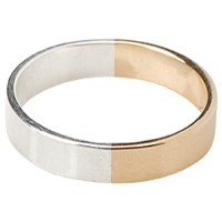 Tara 4779 Percentages 50 50 Men's Ring No.3 50 14K Yellow Gold 50 Silver