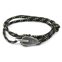 Anchor And Crew All Black Tyne Rope Bracelet