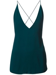 Dion Lee Open Back Cami Top Green