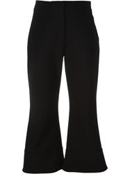 Victoria Victoria Beckham Flared Cropped Trousers Black