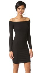 Enza Costa Off Shoulder Mini Dress Black