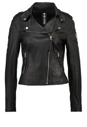 Freaky Nation Blow Away Leather Jacket Black