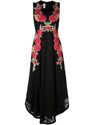 Antonio Marras Rose Embroidery Lace Dress Black