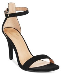Material Girl Blaire Two Piece Dress Sandals Only At Macy's Women's Shoes Black