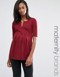 Isabella Oliver Tunic Top Red