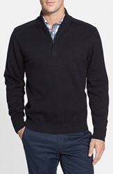 Men's Big And Tall Cutter And Buck 'Broadview' Half Zip Sweater Black