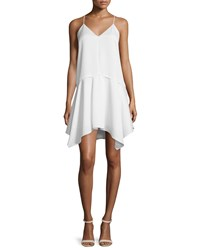 Camilla And Marc Spaghetti Strap Popover Hanky Dress Women's Creme