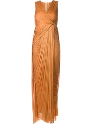 Maria Lucia Hohan 'Zion' Gown Yellow And Orange