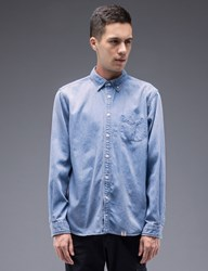 Bedwin And The Heartbreakers Wyatt L S Button Down Denim Shirt